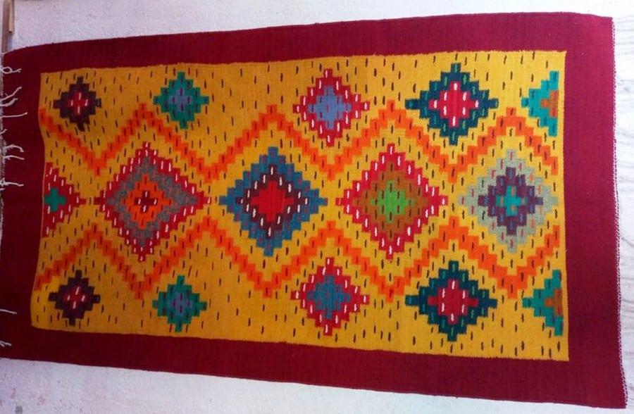 Handwoven Wool Yoga Mat